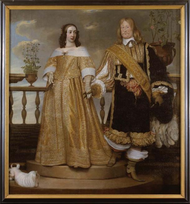 El noble sueco Magnus Gabriel De la Gardie y su esposa, Maria Euphrosyne de Zweibrücken compraron el Codex Argenteus en 1662 y le encargaron una lujosa encuadernación de plata, antes de presentarlo a la Universidad de Uppsala en 1669. (Dominio público)