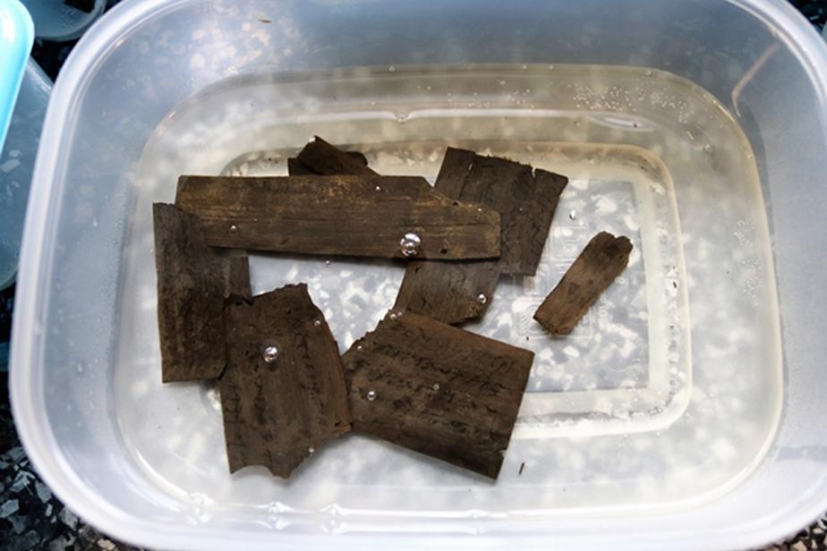 Algunas de las cartas halladas recientemente. Se trata de tablillas formadas por delgadas tiras de madera sobre las que se escribía el texto. (vindolanda.com)
