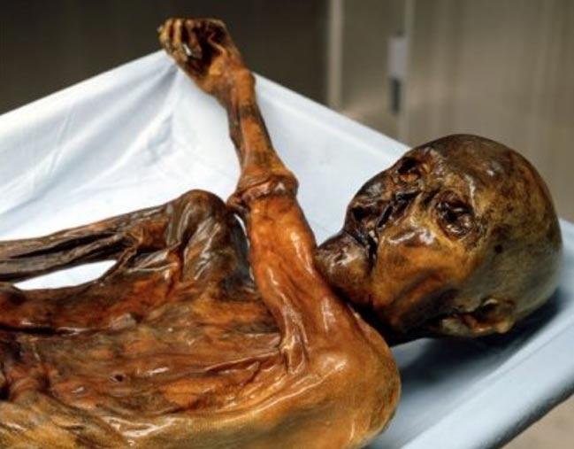 Ötzi, el Hombre de Hielo, un individuo del 3300 a. C. cuyo cuerpo, perfectamente conservado de forma natural, fue descubierto en un glaciar de los Alpes. (© Museo de Arqueología del Tirol del Sur, Fair Use)