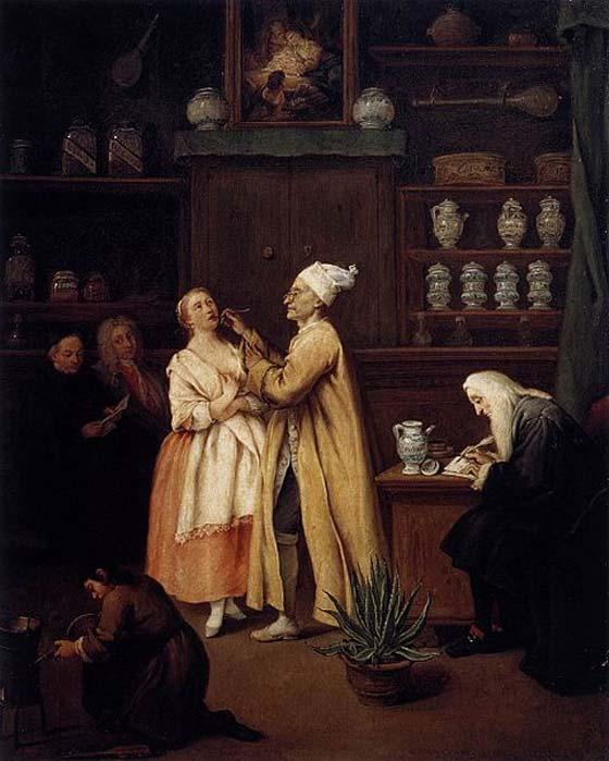 'El boticario' (1752) de Pietro Longhi. (Dominio público)