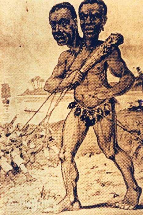 Dibujo que representa al gigante Kap Dwa. (CC BY SA)