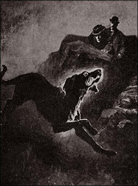 Ilustración de 'El sabueso de los Baskerville'. (Dominio público)