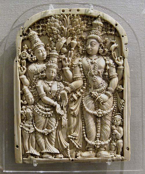 El matrimonio de Shiva y Parvati: La boda del encantador. (CC BY SA 2.5)