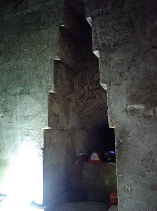El nicho en el muro este de la Cámara de la Reina de la Gran Pirámide. (Imagen: Andrew Collins)
