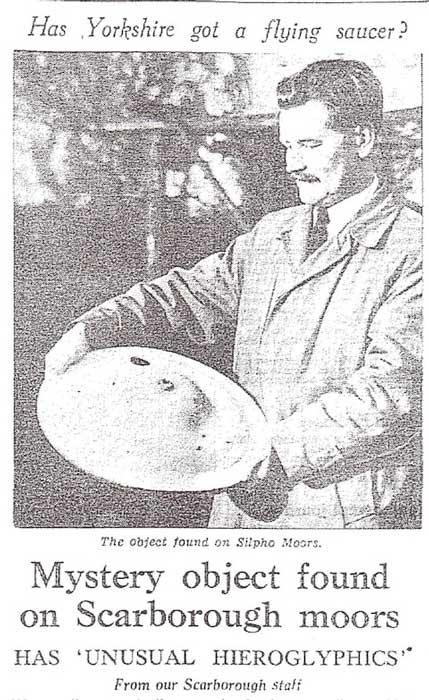 La comunidad ovni rumoreaba que las partes restantes del OVNI Silpho, encontradas en 1957, habían terminado en un montón de chatarra o incluso en exhibición en una tienda local de pescado y papas fritas. (Dr. David Clarke / Sheffield Hallam)