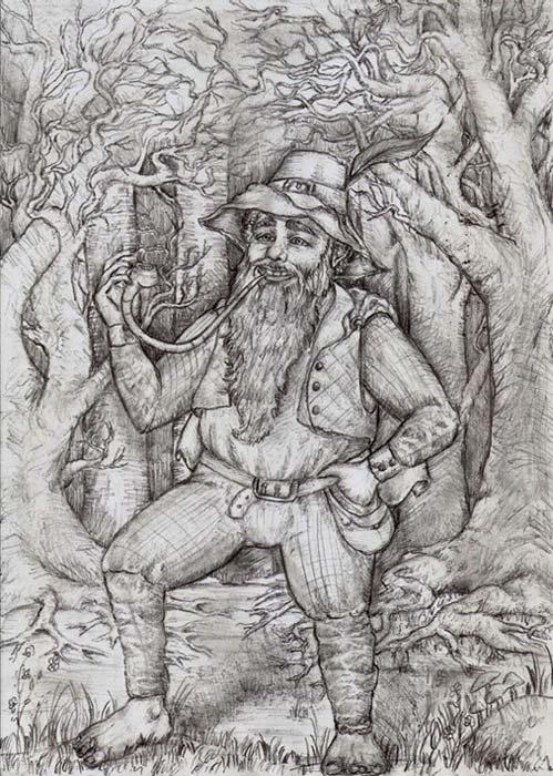 Un dibujo de Tom Bombadil. (CC BY-NC-ND 3.0)