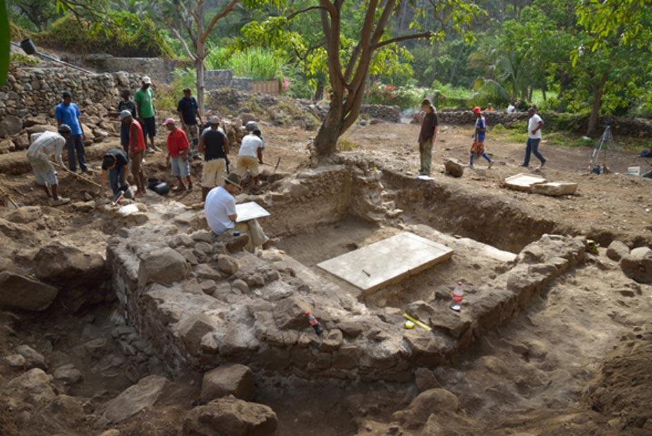 Los arqueólogos llevan realizando excavaciones en Cidade Velha desde el año 2007. (Fotografía: Universidad de Cambridge)