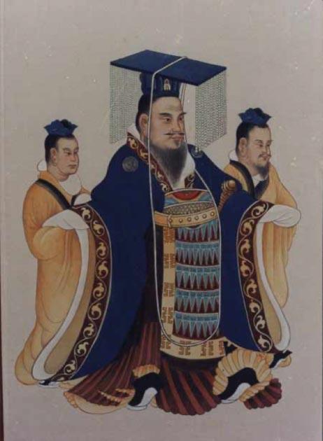 Retrato tradicional del emperador Wu de Han de un antiguo libro chino. (Dominio público)
