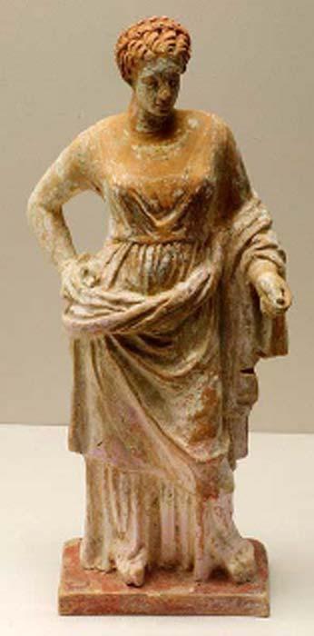 Estatua de terracota corintia del siglo IV de Afrodita. (MatthiasKabel / CC BY SA 3.0 )