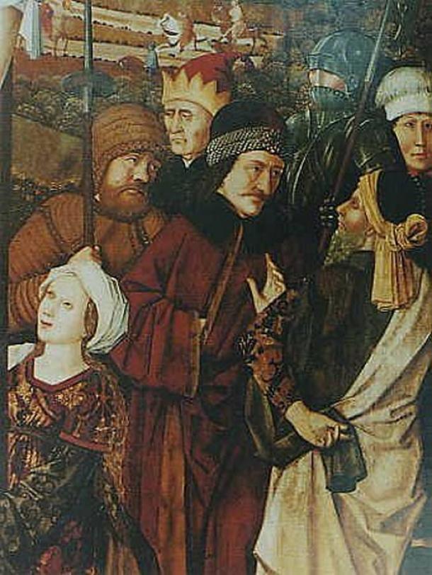 Vlad III en un mural en el Calvario de Cristo, 1460, María am Gestade, Viena. (Dominio público)