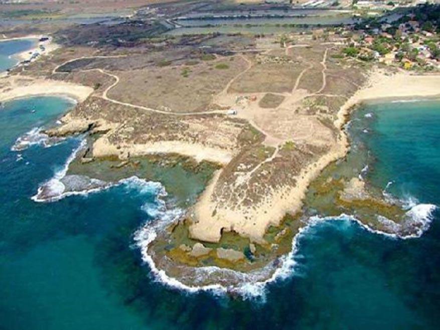 Vista aérea de las excavaciones del yacimiento arqueológico de Tel Dor. (Sky View / Tel Dor expedition)